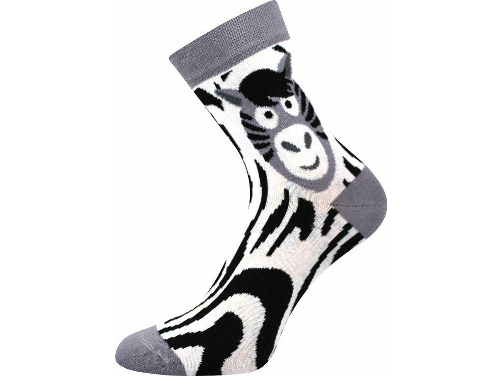 ponozky xantipa 62 zebra vesele obrazkove vtipne superfit store