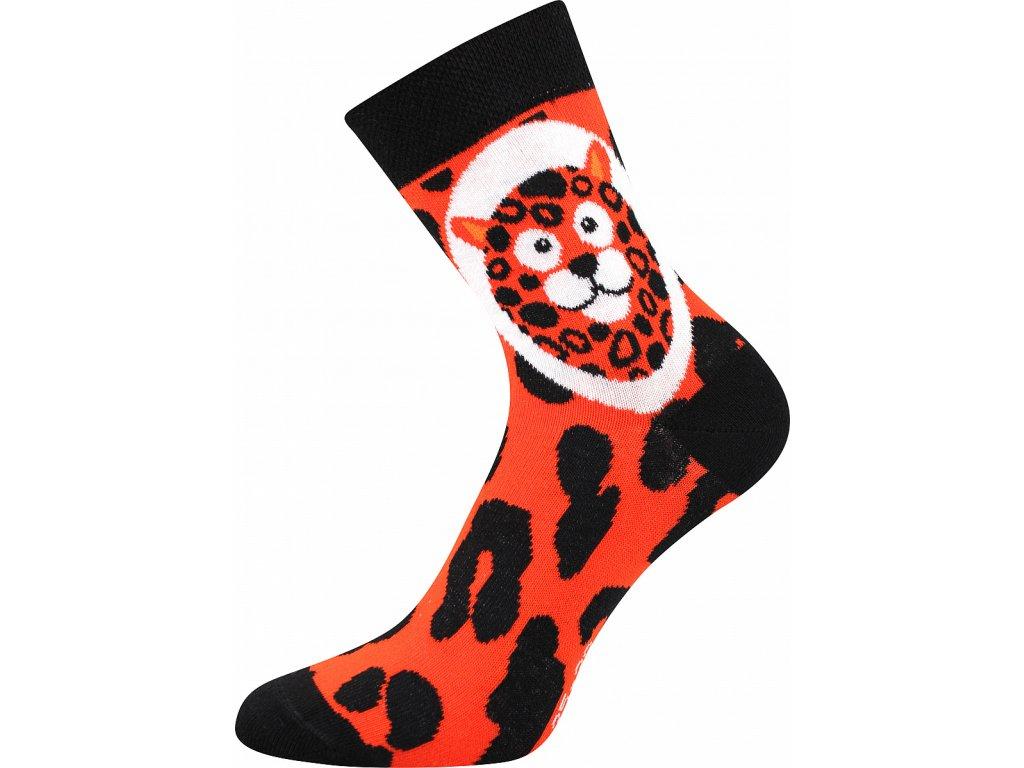 ponozky xantipa 62 leopard vesele obrazkove vtipne superfit store