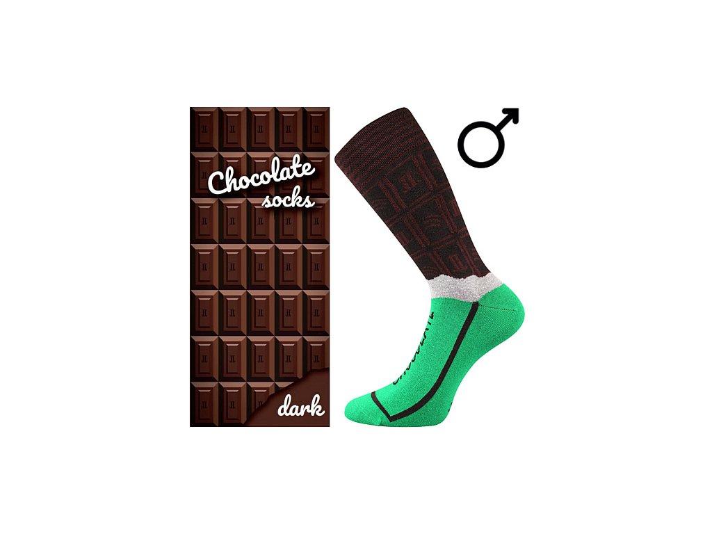 ponozky chocolate bila cokolada darkove baleni superfit store (1)