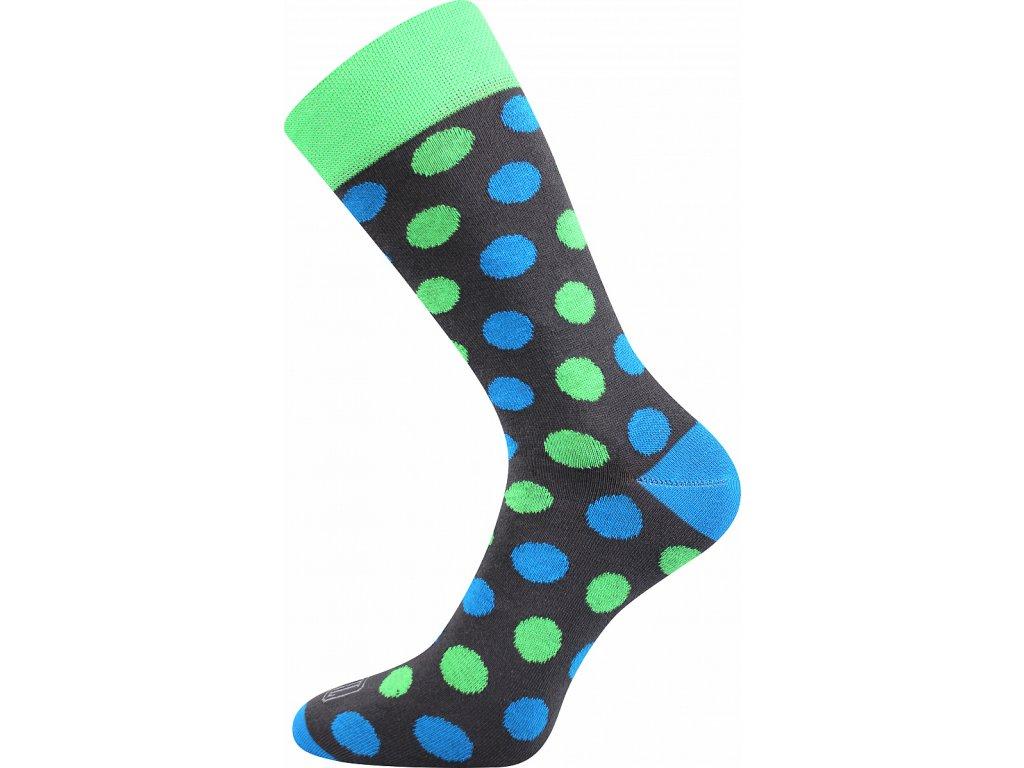 ponozky wearel019 puntiky zelena a vesele obrazkove vtipne superfit store