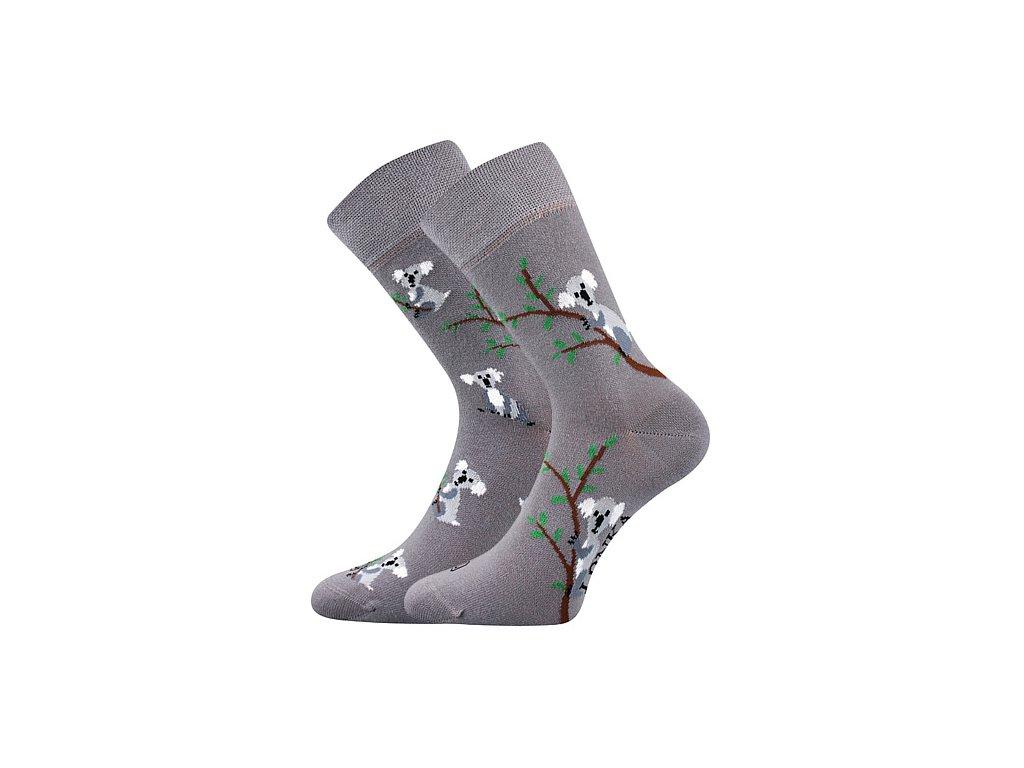 ponozky koaly doble seda b vesele obrazkove vtipne superfit store