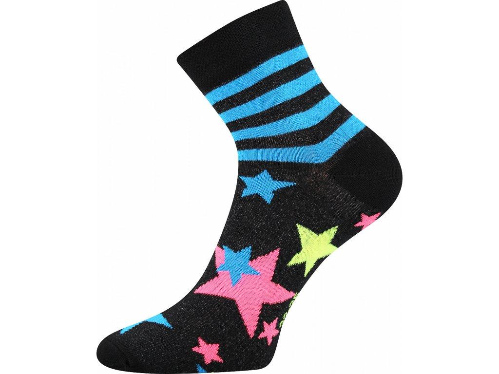 ponozky hvezdy pruhy jana 45 cerna a vesele obrazkove vtipne superfit store