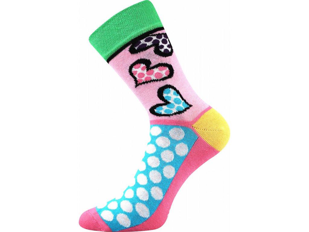 ponozky srdce puntiky ivana 55 zelena a vesele obrazkove vtipne superfit store