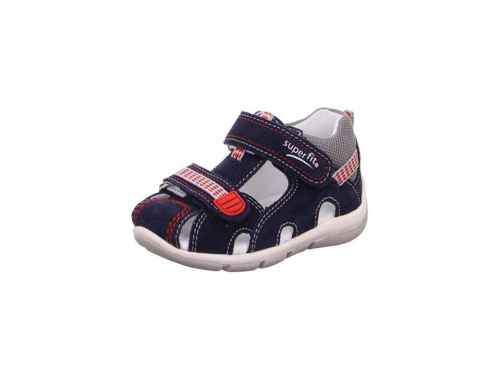 Dětské chlapecké kožené letní sandály Superfit 0-800140-8100 (Velikosti 24)
