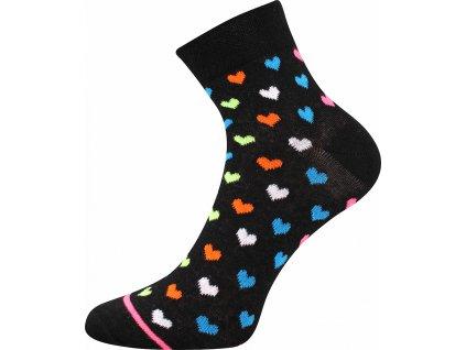 ponozky srdicka jana 52 cerna a vesele obrazkove vtipne superfit store