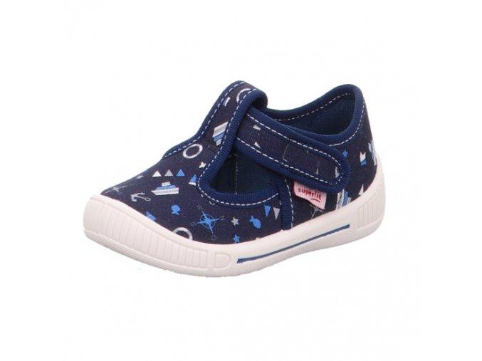 Dětské chlapecké domácí látkové papuče Superfit 0-600265-8000 (Velikosti 21)