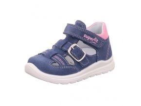 Dětské dívčí kožené letní sandály Superfit 0-600430-8200 (Velikosti 21)