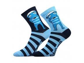 Ponožky dětské Lichožrouti Hihlík (Velikosti ponožky 18-21 (27-32), Barvy ponožek Modrá A)